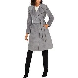 Link to Calvin Klein Womens Notch-Collar Coat, grey, 10 Similar Items in Women's Outerwear
