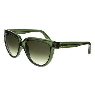 Valentino V724S 300 Transparent Green Oval Sunglasses - transparent green