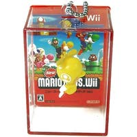 Super Mario Brothers Wii Keychain Gashapon Wolly (Yellow Ball) - Multi