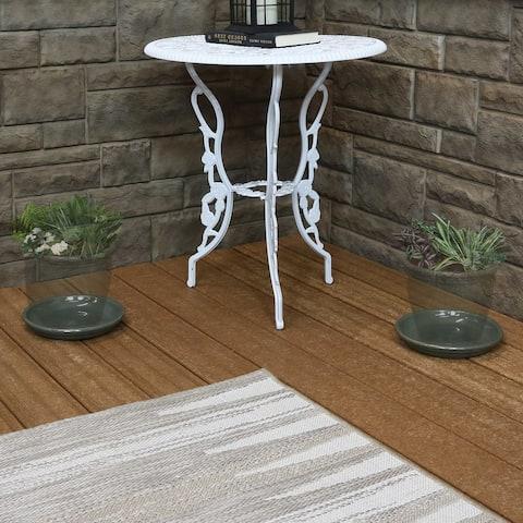 Sunnydaze Set of 4 Glazed Ceramic Planter Saucer - 7-Inch - Gray