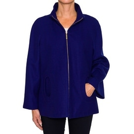 Womens Braetan Mod Style Wool Coat with Pockets
