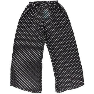 Profile by Gottex Womens Sheer Polka Dot Pants Swim Cover-Up - M