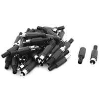 RCA Male Jack Plug Audio Video Cable Cord Adapter Solder Connector Black 40 Pcs