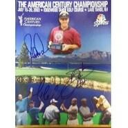 Signed American Century Championship Golf Program 2003 Dann Quinn Mario Lemieuz Emmit Smith The A