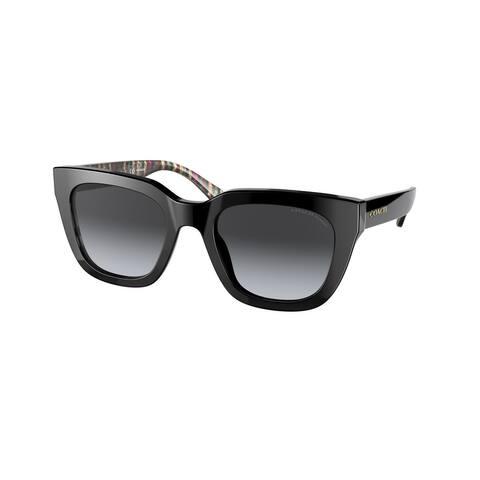 Coach HC8318 5002T3 52 Black Woman Square Sunglasses