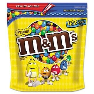 M M`S. Milk Chocolate Coated Candy w/Peanut Center 42 oz Bag