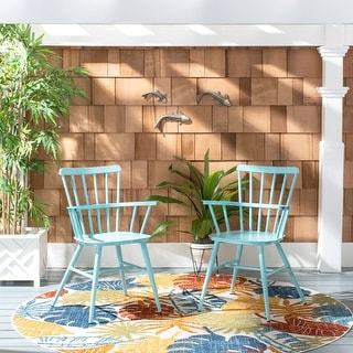 "Link to Safavieh Outdoor Living Clifton Arm Chair - 21.7""x20.5""x32.9"" Similar Items in Patio Dining Chairs"