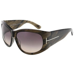 Tom Ford FT0404/S 50B Felicity Olive Horn Rectangle