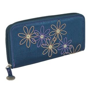 Travelon Women's Daisy RFID Blocking Zip-Around Wallet - One size