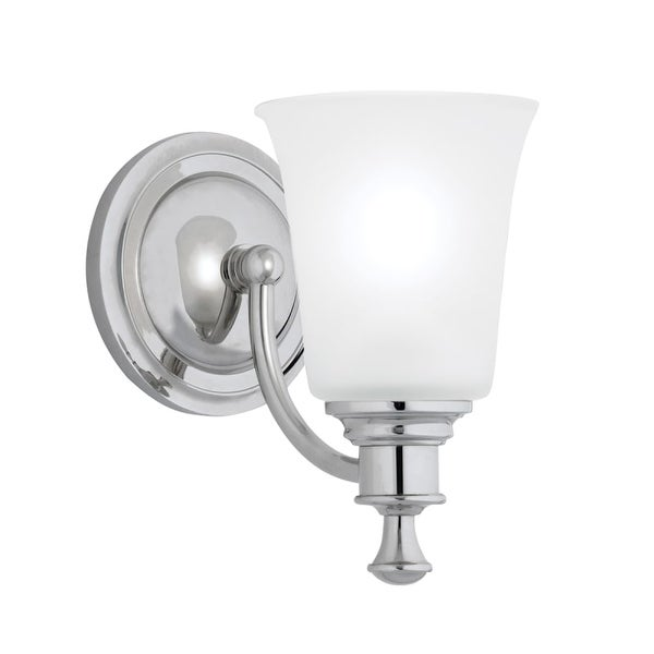 """Norwell Lighting 9721 Sienna 9"""" Tall Single Light Bathroom Sconce with White Glass Shade"""