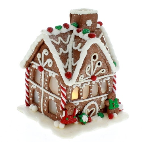 LED Lit Gingerbread House