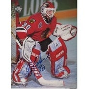 Signed Belfour Ed Chicago Blackhawks Beckett All Team Magazine Page autographed