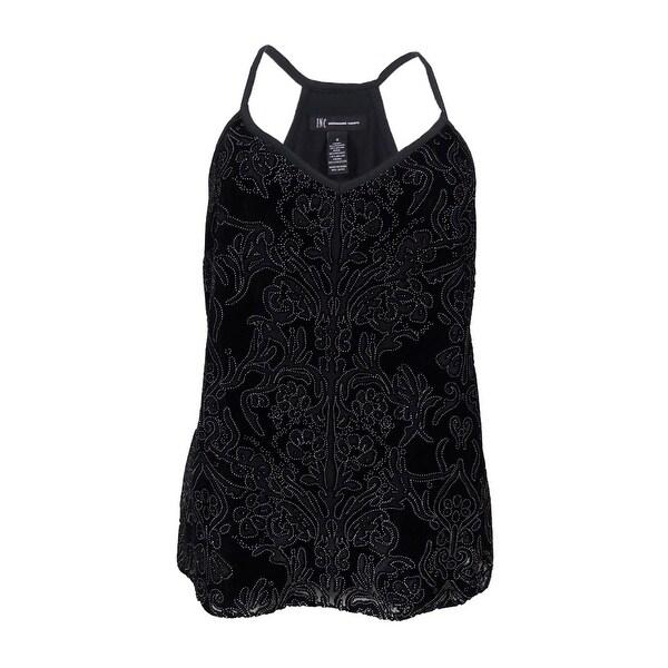 c3393b0b5433f8 Shop INC International Concepts Women's Velvet Print Top (0X, Deep Black) -  Deep Black - 0X - On Sale - Free Shipping On Orders Over $45 - Overstock -  ...