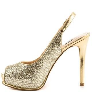 GUESS Womens huela Peep Toe Ankle Strap Classic Pumps
