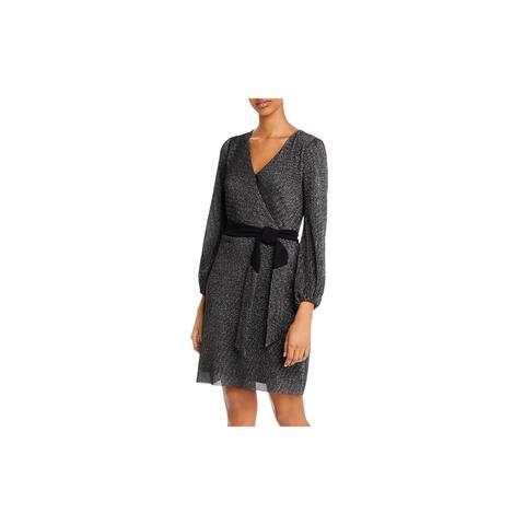 SAM EDELMAN Black Long Sleeve Short Dress 10