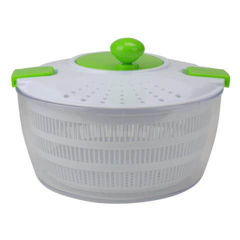 White and Green Salad and Fruit Spin and Serve, 7-Inch - N/A