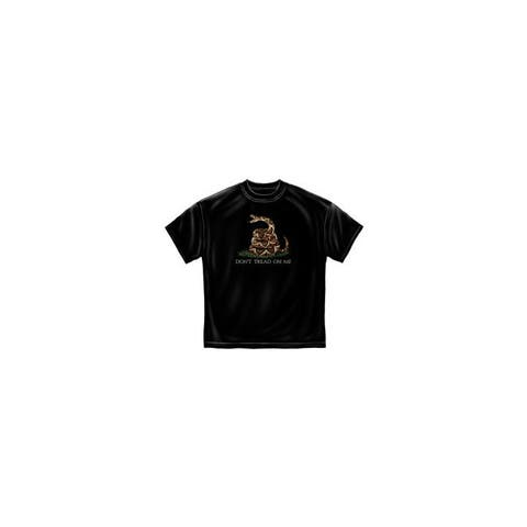 Misc novelty clothing mm103bl don t tread on me design black t-shirt large