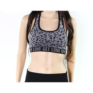 Betsey Johnson NEW Gray Womens Size Small S Printed Athletic Sports Bra