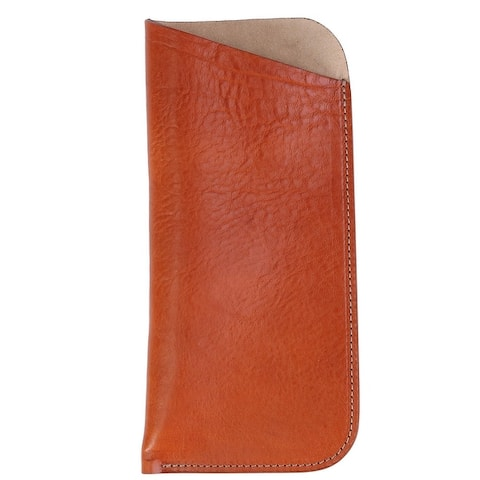 The British Belt Company Italian Leather Slip Glasses Case with Suede Lining - one size