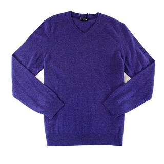 Club Room NEW Purple Mens Size Medium M V-Neck Cashmere Sweater