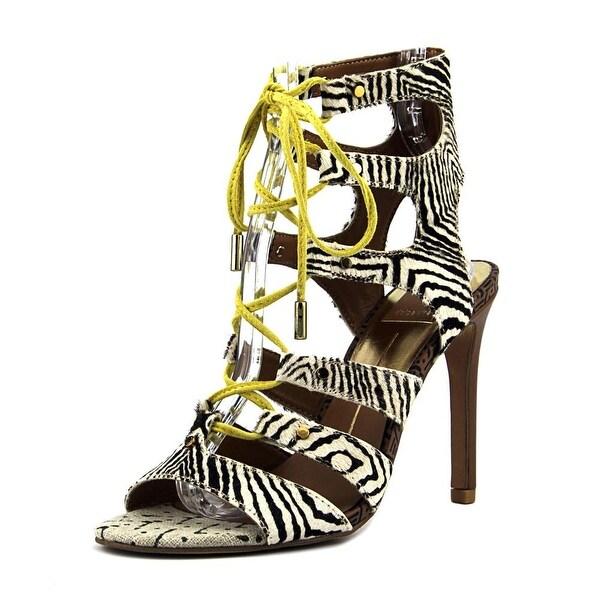 Dolce Vita Howie Women Open-Toe Suede Black Heels