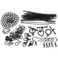 Black Starter Pack - Jewelry Basics Metal Findings 145/Pkg