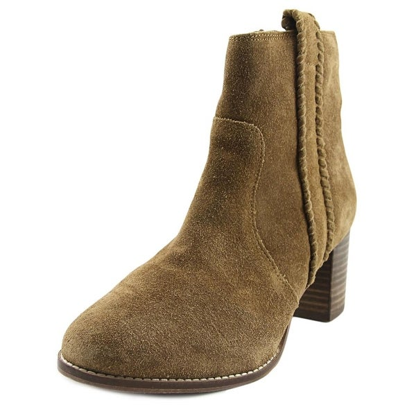 Coconuts By Matisse Trina Women Round Toe Suede Brown Ankle Boot