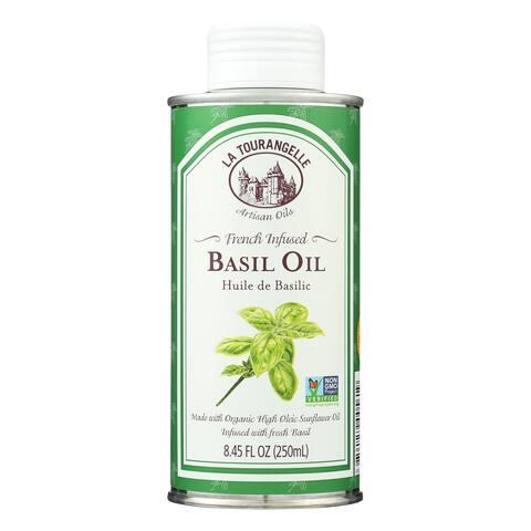 La Tourangelle French Infused Basil Oil - Case of 6 - 8.45 Fl oz.