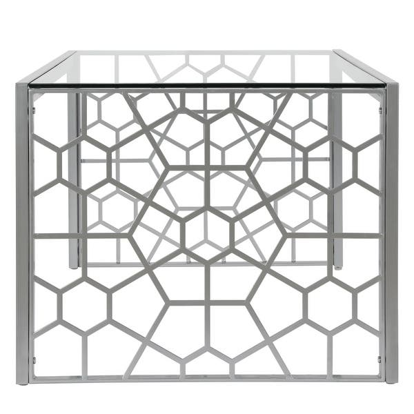 Cosmoliving By Cosmopolitan Juliette Glass Top Coffee Table On Sale Overstock 26057083 Brass