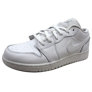 Nike Grade-School Air Jordan I 1 Low BG White/Metallic Silver 553560-105