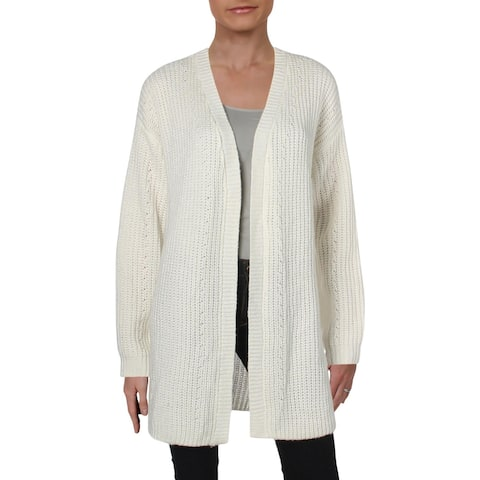 Roxy Womens Juniors Ubud Colors Cardigan Sweater Pointelle Open Front - M