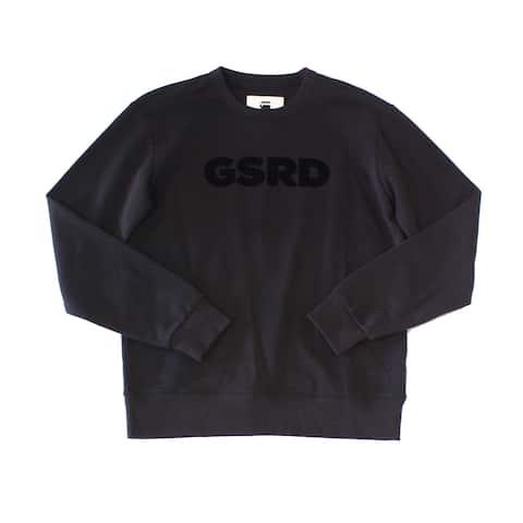 G-Star Raw Mens Sweater Black Size Small S Fleece Crewneck Pullover