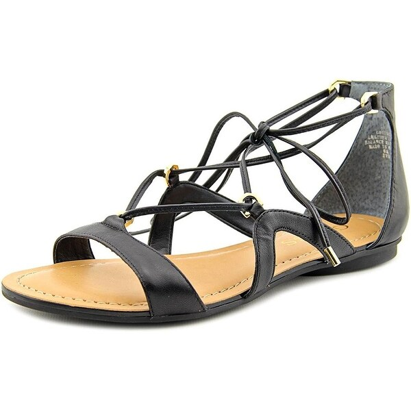 GUESS Womens Gingy Leather Open Toe Casual Strappy Sandals