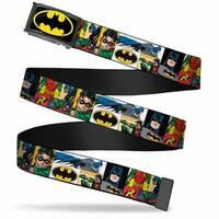 Batman Fcg Black Yellow Chrome Batman & Robin Action Panels Webbing Web Belt