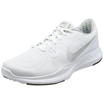 fcf6188b03d Shop NIKE Women s In-Season TR 7 Cross-Trainer-Shoes White Metallic Silver  Training Shoe - Free Shipping Today - Overstock - 20985339