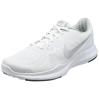 ffb22c90d79e Shop NIKE Women s In-Season TR 7 Cross-Trainer-Shoes White Metallic Silver Training  Shoe - Free Shipping Today - Overstock - 20985339