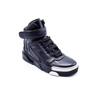 Givenchy Mens Black Leather High Top Tyson Sneakers