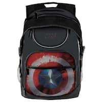 Civil War Captain America Shield Student Backpack - Color - Blue