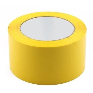 Shipping PVC Box Sealing Adhesive Tape Yellow 2.4 x 98.4 Yards(295.3 Ft)