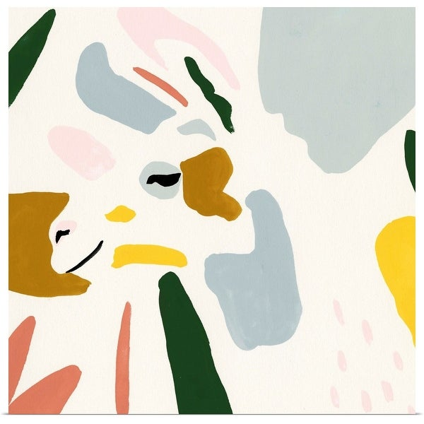 """Color Block Llama IV"" Poster Print"