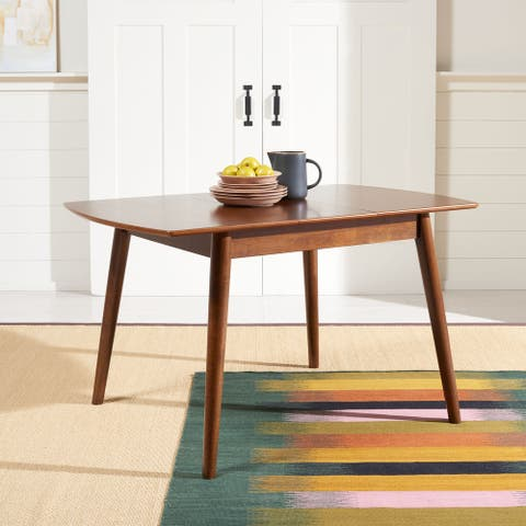 "SAFAVIEH Varda Manual Extension Dining Room Table - 51.2"" W x 31.5"" L x 29.1"" H"