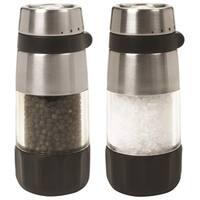 Oxo International 1141000 Mill Set Salt Pepper, Stainless Steel, Clear Acry