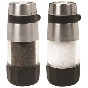 Oxo International 1141000 Mill Set Salt Pepper, Stainless Steel, Clear Acry