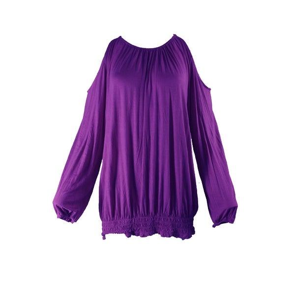 d2bf33667d3 Inc International Concepts Vivid Purple Smocked Off-The-Shoulder Top XXL