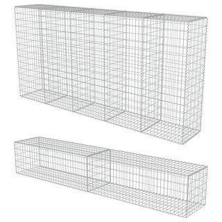 Link to vidaXL Gabion Wall with Covers Galvanized Steel Similar Items in Yard Care