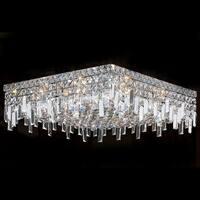 Worldwide Lighting W33619C20 Cascade 12-Light Flush Mount Ceiling Fixture - Chrome