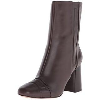 Nine West Womens Deliah Block Heels Ankle Boots