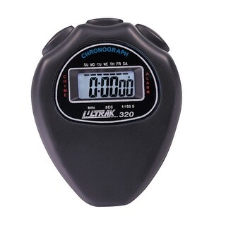 Ultrak 320 Cumulative Split Timing Stopwatch, Black