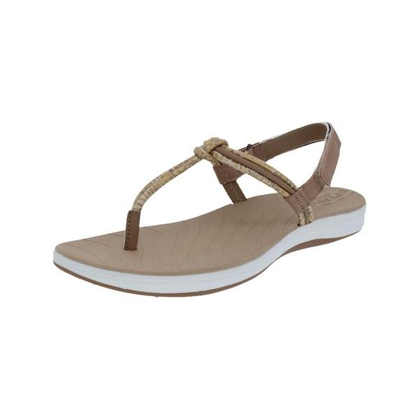Sperry Womens Seabrook Elsie Thong Sandals Metallic Python Print