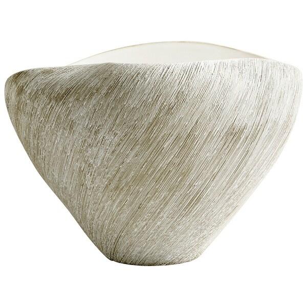 """Cyan Design 08734 Selena 10"""" Wide Ceramic Vase - Natural Stone"""